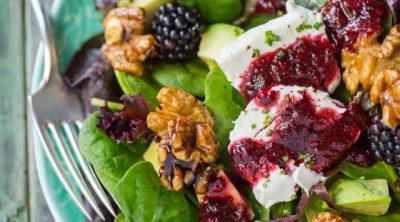 Texas Salad with Blackberry Lavender Vinaigrette