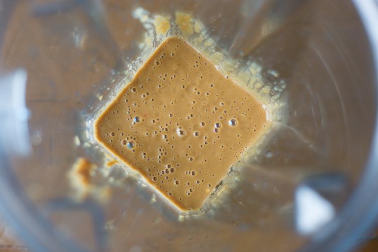 Vegan Raw Pad Thai Sauce Recipe - in blender