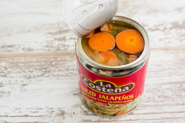 La Costena Escabeche, canned and opened
