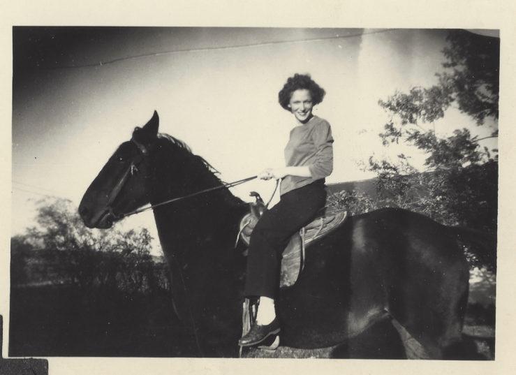 My grandmother on the farm!