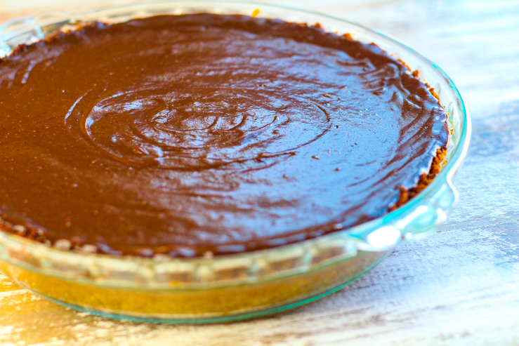 Mexican Chocolate Pie on the kitchen table