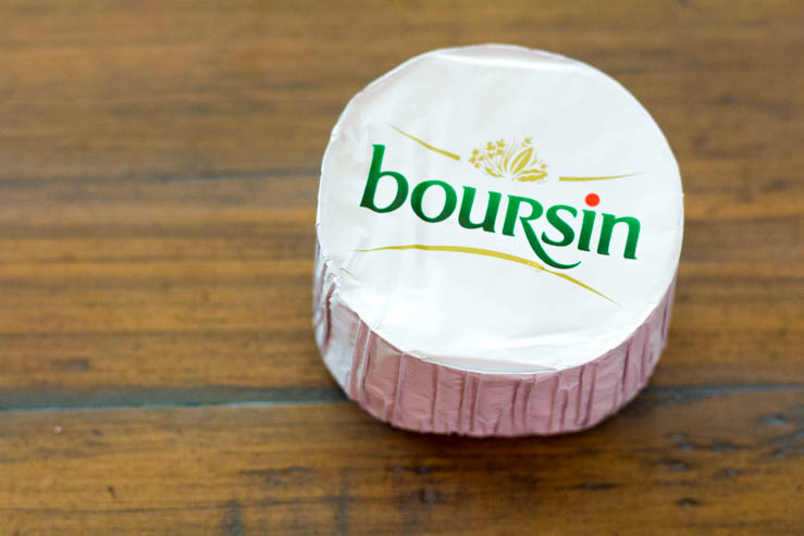 A wheel of Boursin Cheese