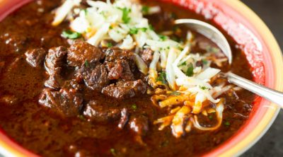 A bowl of Texas brisket chili