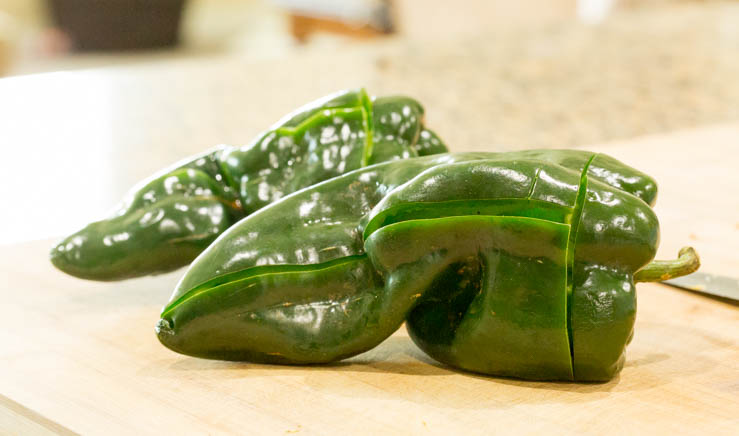 Poblanos for stuffing - The T-cut