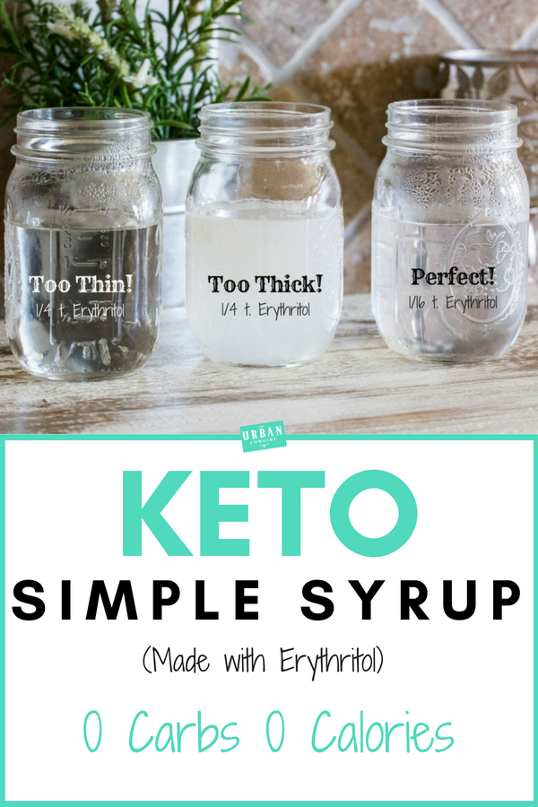 Keto Simple Syrup (Erythritol Simple Syrup)