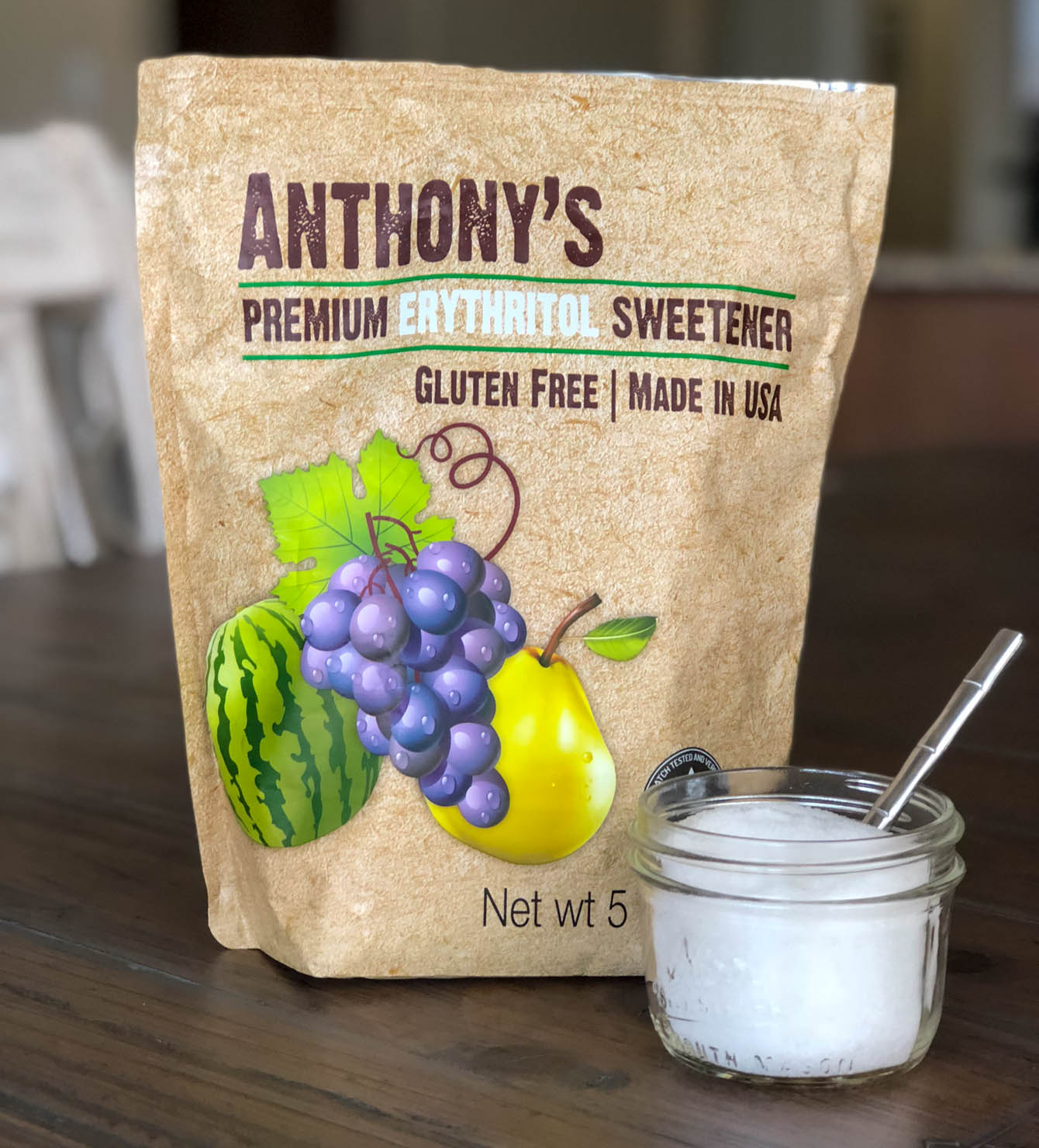 Anthony's Erythritol Sweetener 5lbs. - for keto diet
