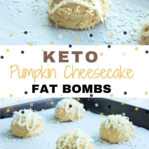 Keto Pumpkin Cheesecake Fat Bombs