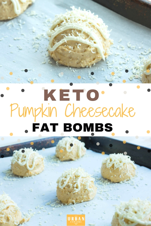 Keto Pumpkin Cheesecake Fat Bombs