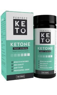 Keto test strips for measuring ketone levels