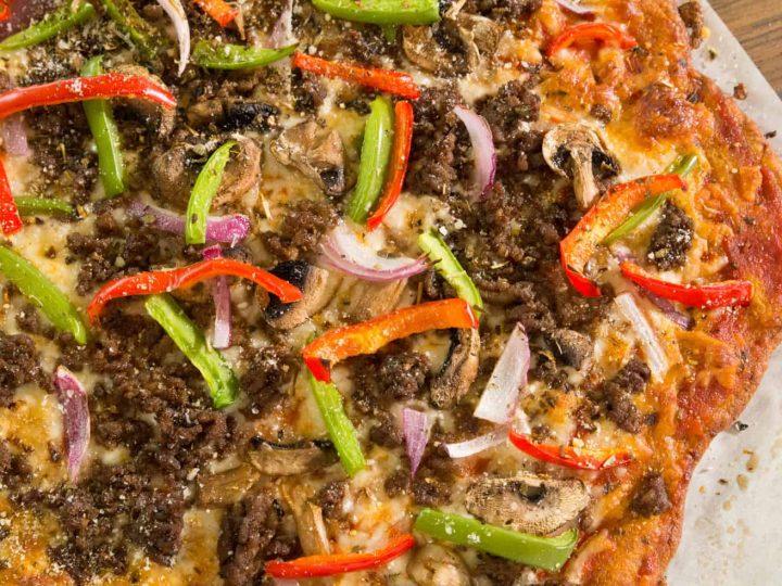 Keto Pizza – Cheesy, No Cauliflower Crust!