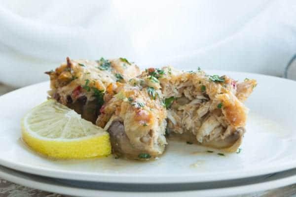 Keto Crab Stuffed Mushroom Appetizer