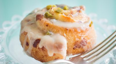 Jalapeno Cinnamon Rolls on a plate