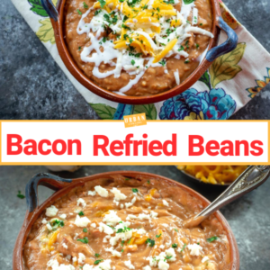 Bacon Refried Beans Pin
