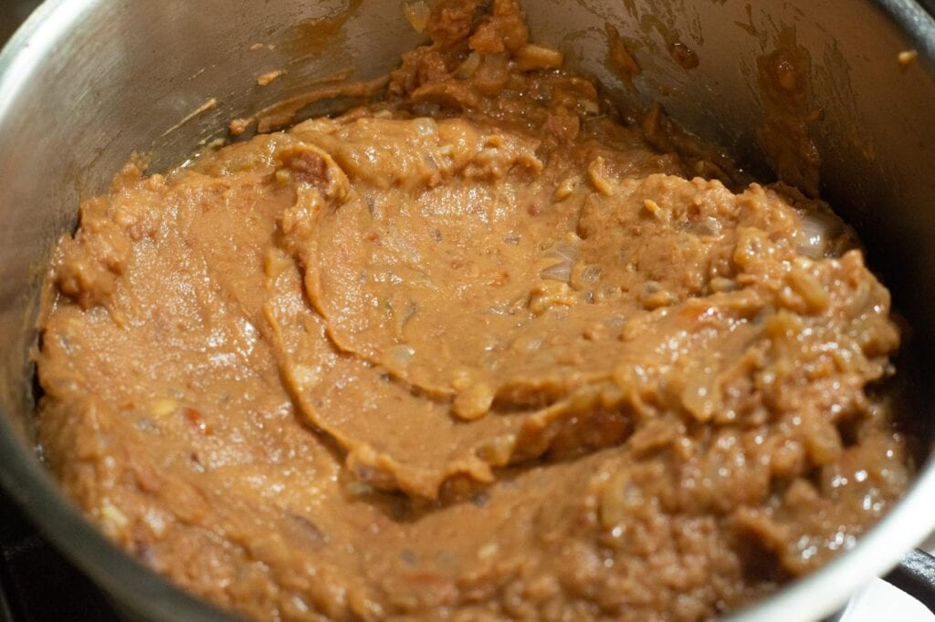 Refried Beans in a pot