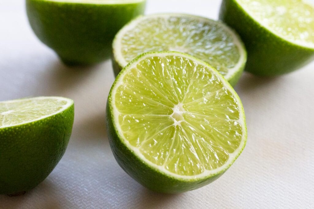 Freshly sliced limes ready for the steak fajita marinade