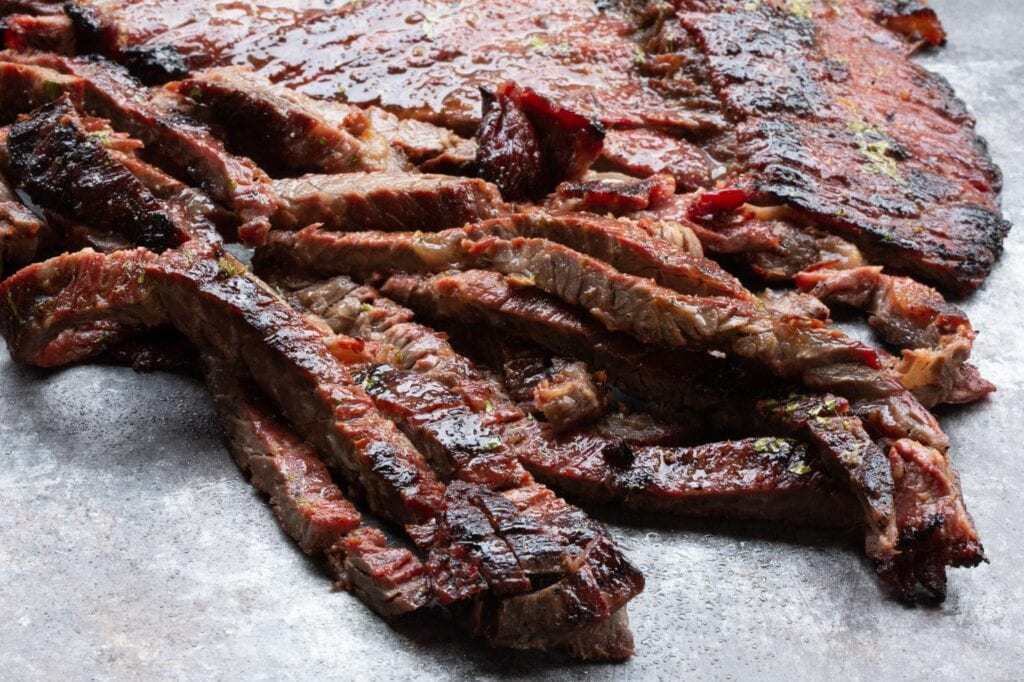 Steak Fajita Meat Grilled To Perfection