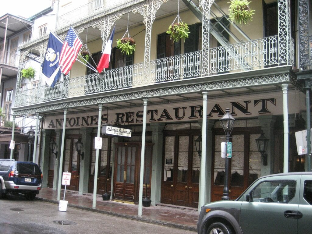 Exterior of Antoine's Restaurant in the French Quarter
