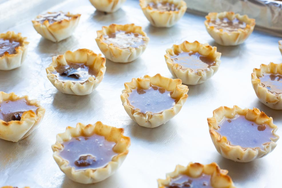 Apple Butter Tarts- on a cookie sheet preparing to bake