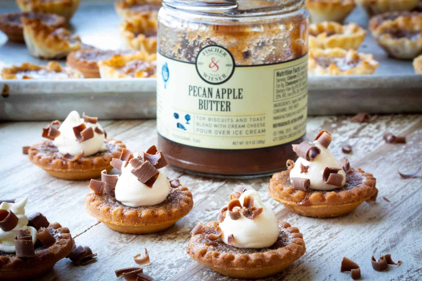 Pecan Apple Butter and Tartlets made into desserts