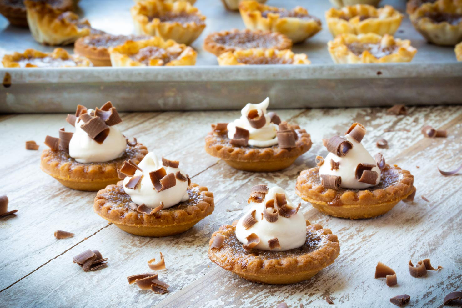 Decorated Pecan Butter Tarts