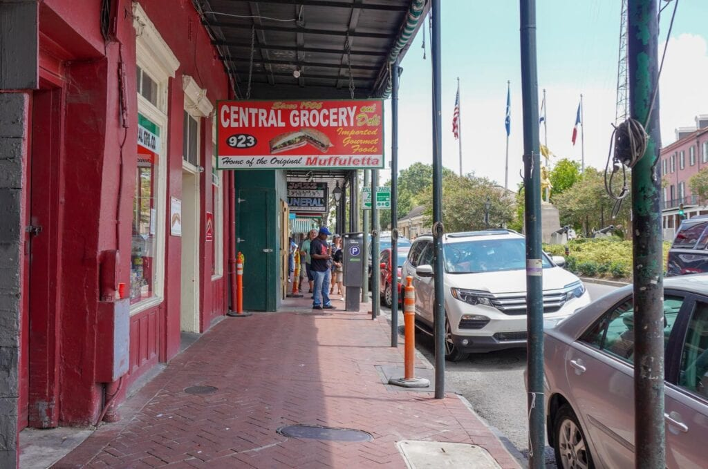 Central Grocery in New Orleans - Stop on our self guided food tour