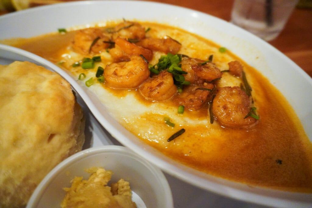 Barbecue Shrimp and Grits from New Orleans