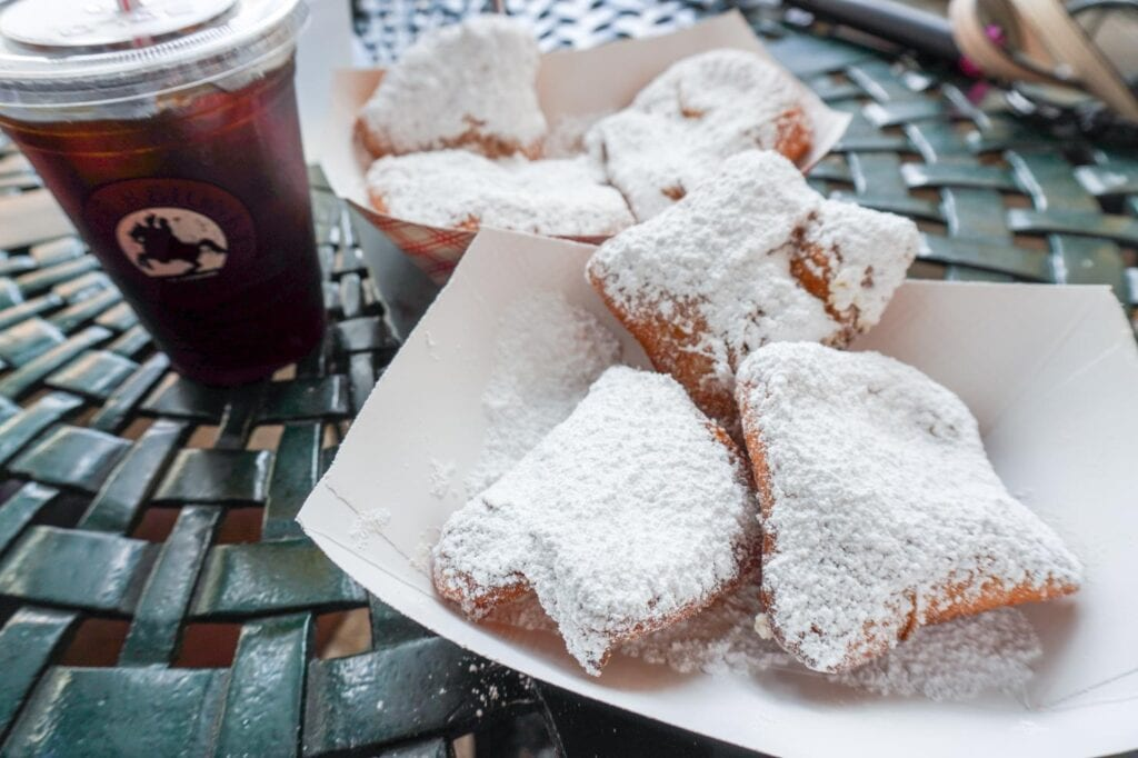 Beignets and Chicory Coffee at Cafe Beignet in the French Quarter