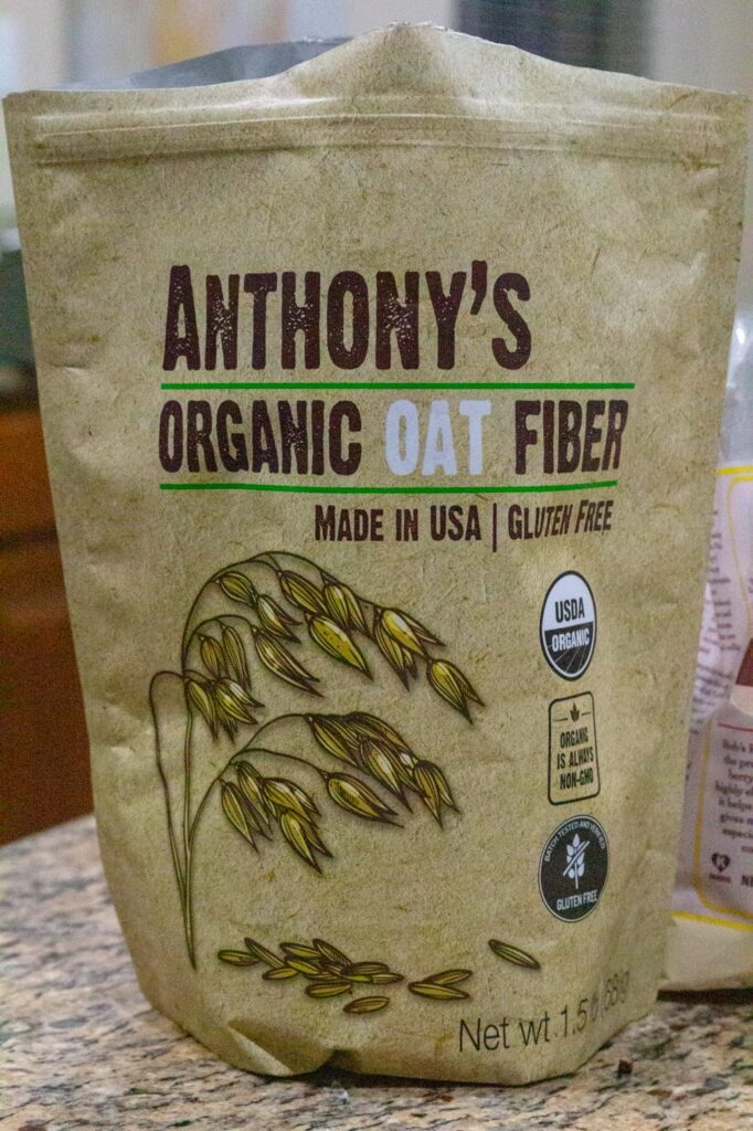 A bag of Anthony's Oat Fiber