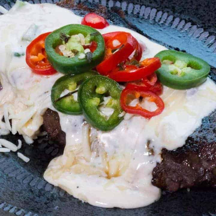 Mexican Steaks with Queso Blanco