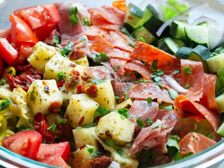 Antipasto Salad with Marinated Mozzarella Recipe