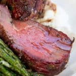 a close up of smoked beef tenderloid