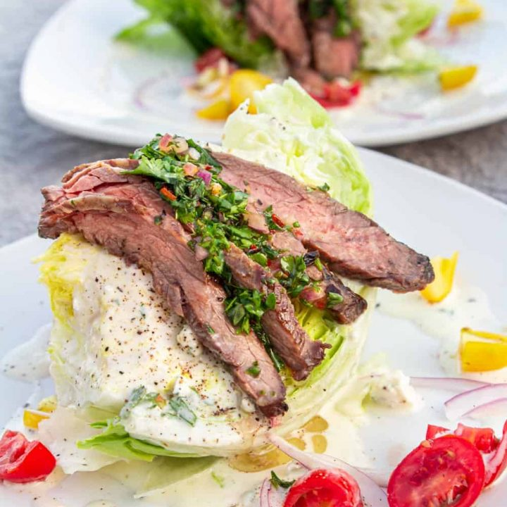 Chimichurri Steak Wedge Salad Recipe