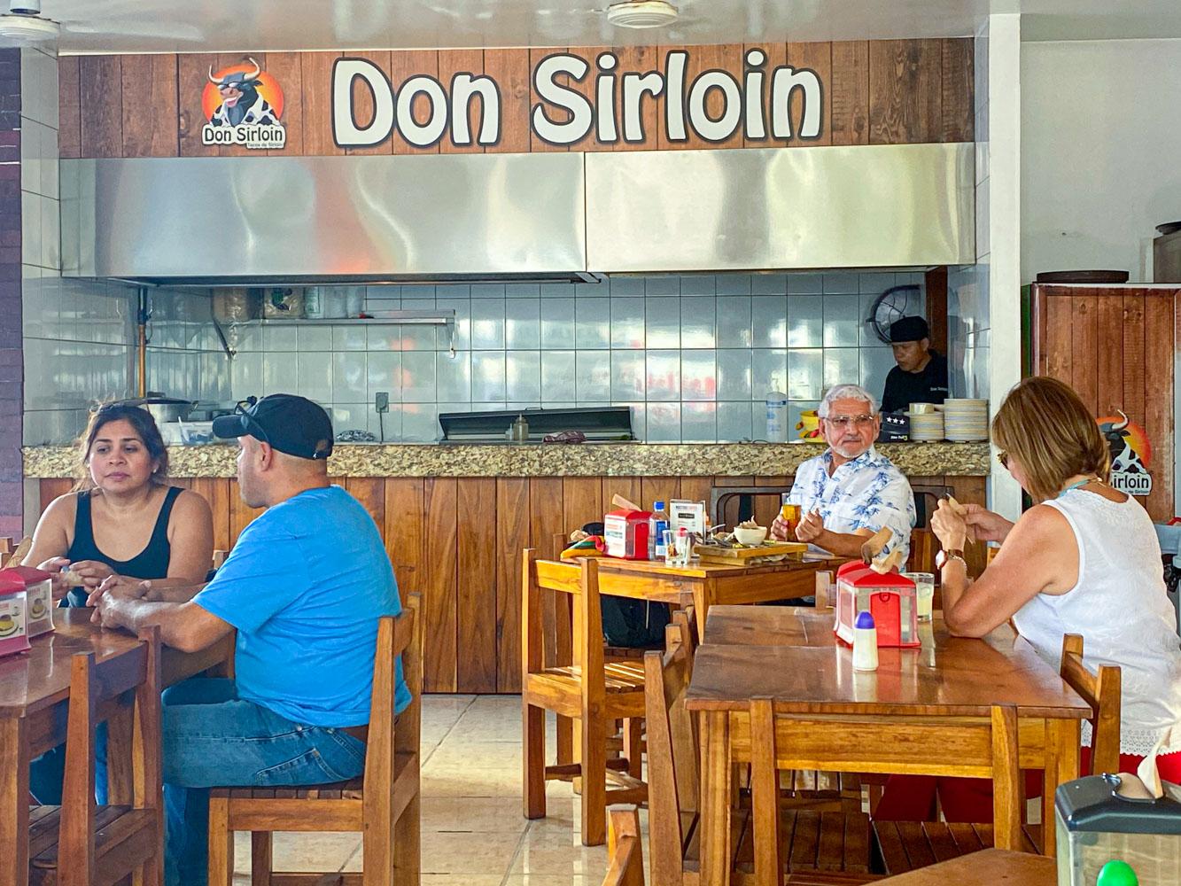The outdoor restaurant, Don Sirloin