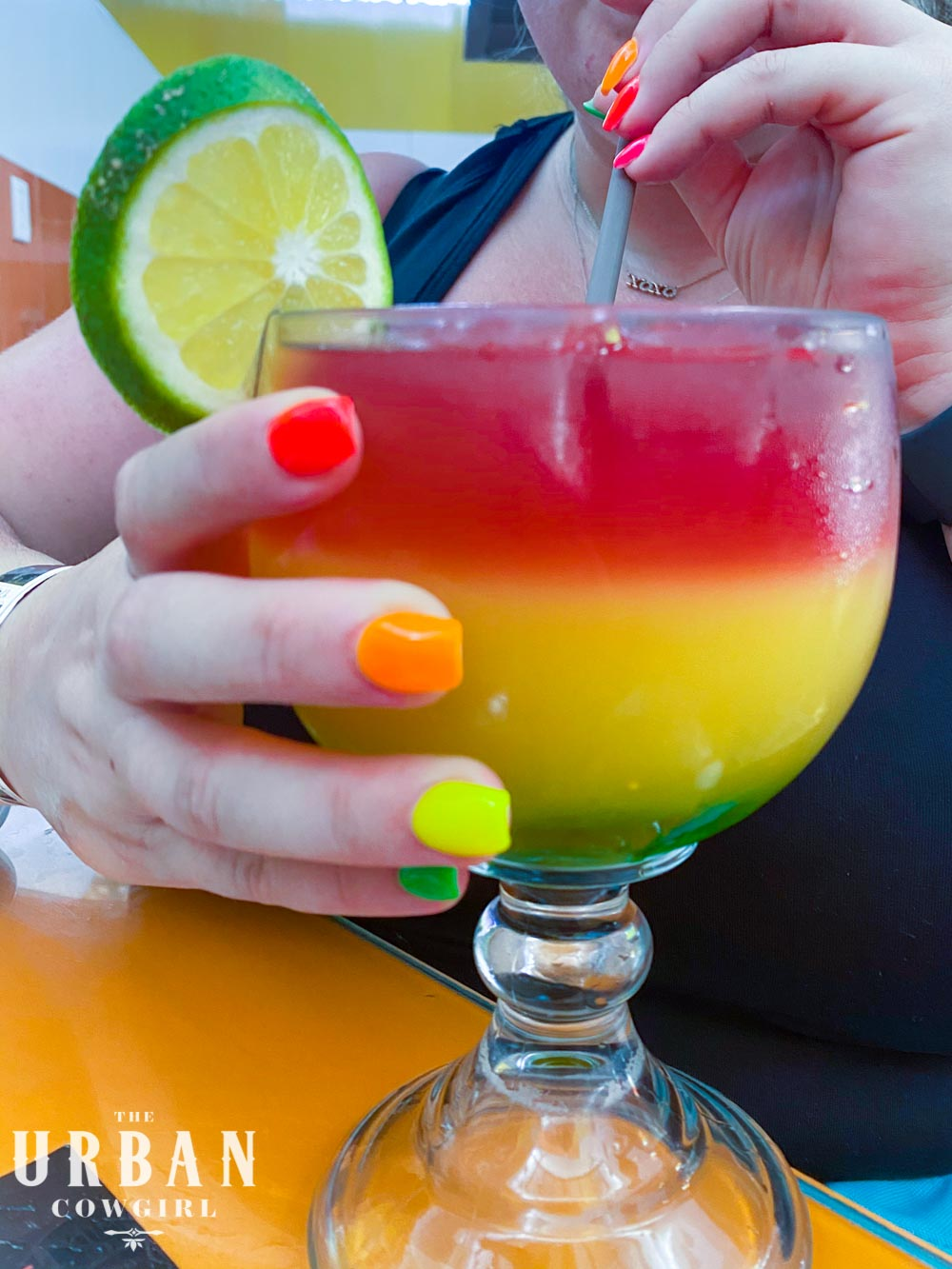 The Red, Green, and Yellow, El Fogon Cocktail.